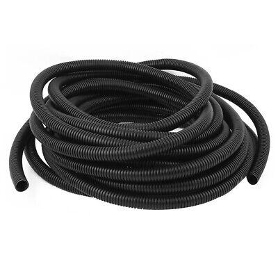 3X(Corrugated Wire Cable Conduit Tubing Tube Pipe 16mm OD 10M Long Black P9U7)
