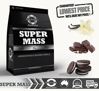 8KG SUPER MASS GAINER WHEY PROTEIN - COMPLETE GAINS [choose flavour]
