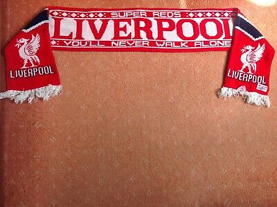 COLLECTABLE LIVERPOOL FOOTBALL CLUB 1980s SCARF