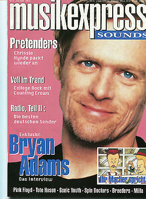 MUSIKEXPRESS SOUNDS Nr.6 Juni 1994 PINK FLOYD,TOTEN HOSEN,SONIC YOUTH