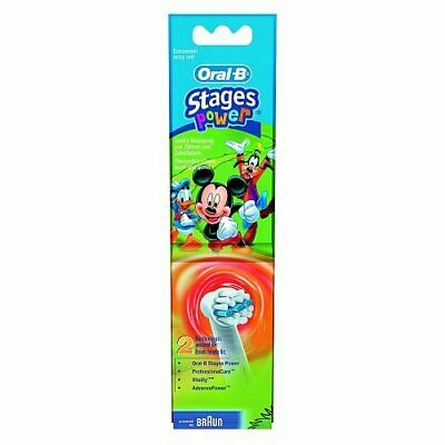 Braun Oral-B Stages Power Kids Replacement Brush Heads Disney Cars 2 Pack