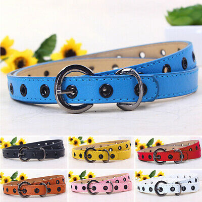 Candy Colors Toddler Baby Kids Boys Girls Adjustable PU Leather Belts Waistbands