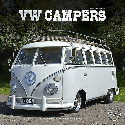 Vw Campers - 2020 Wall Calendar - Brand New - 807404