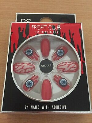 Halloween Fright Club Ghouls False Nails