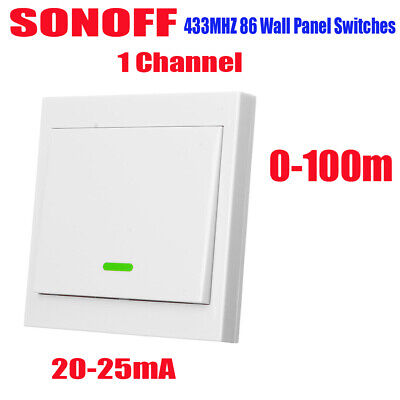 SONOFF T433 86 Type Luxury Wall Touch Panel Sticky 433MHz Wireless RF K8M1