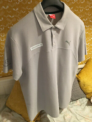 Mercedes AMG Puma Polo Shirt Top Petronas F1 (NEW, 100% Genuine) Grey XXL