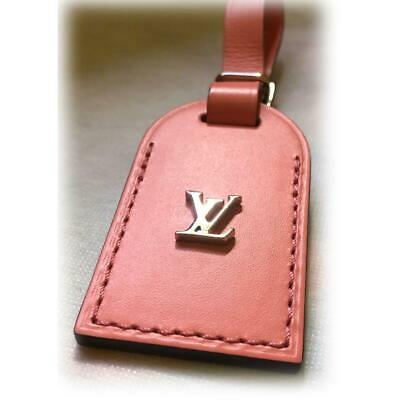 Louis Vuitton Leather Pink color Name tag,luggage tag Made in France F/S