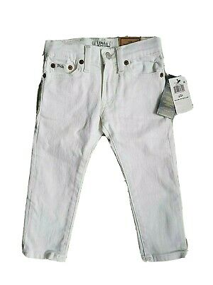 Ralph Lauren Young Girl white JEANS size 2 years NWT trousers sullivan slim