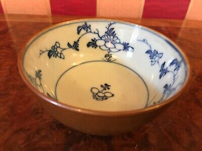 c.18th - Antique Chinese Blue & White Porcelain rice Bowl