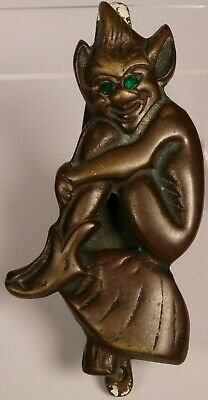 Pixy Figure Lucky Cornish Door Knocker - Solid Brass - Circa 1930'S