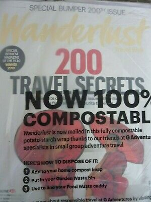 New sealed magazine special bumper 200th issie Wanderlust travel october 2019