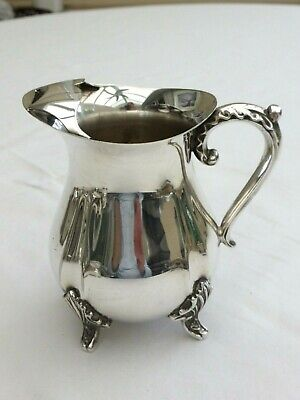 Art Deco Silver Plated Hot Water Jug With Patterned Feet And Handle  1460880/884