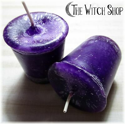 Purple Healing Votive Candle Crystal Journey Candles Wicca Witch Spell Supply