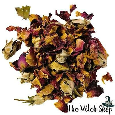 Red Rose Buds & Petals ~ Dried Rosa Gallica ~ 1oz Wicca Witch Herb Spell Supply
