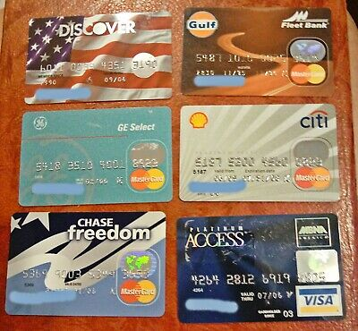 Vintage Collectible Credit Cards ~ Lot Of 6 ~ Mastercard, Discover, Visa, Etc
