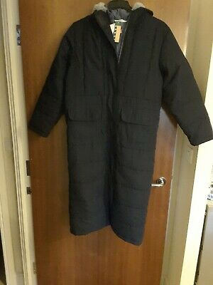 Marks And Spencer navy blue  Padded long Coat Jacket  For Girls Size 11-12Years