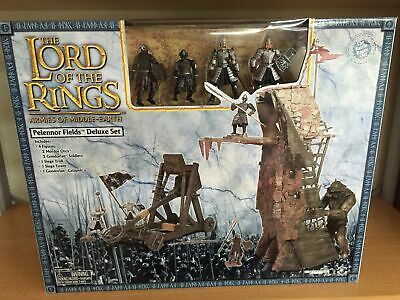 Signore degli Anelli Lord of the Rings PELENNOR FIELDS DELUXE SET con Figure MIB