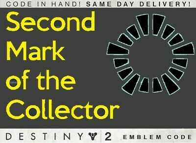 Destiny 2 Second Mark of the Collector emblem code PS4/Xbox One/PC - eDelivered!