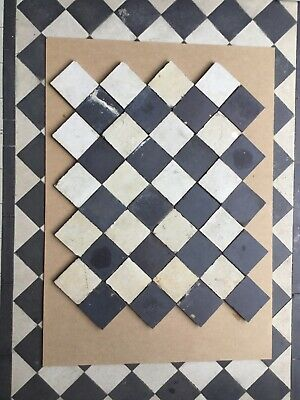Encaustic Reclaimed Antique Victorian floor path tiles