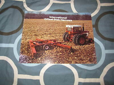 International Harvester Peg Tooth Harrows For 1972 Dealer/'s Brochure TEIN