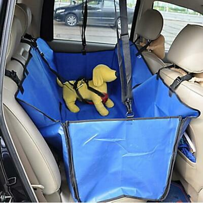 New Pet Travel Foldable Blanket Mat Vehicle Dog Car Seat Cover Protector Blue