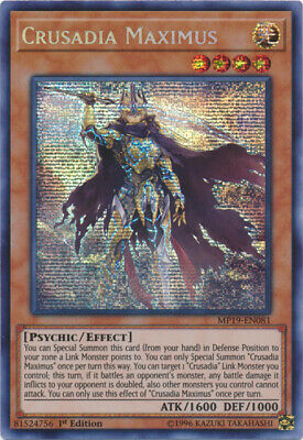 x1 Crusadia Maximus - MP19-EN081 - Prismatic Secret Rare - 1st Edition Yu-Gi-Oh!