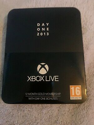 Xbox Live - Day One Edition Collectors Membership Tin - 2013 - *Code Used*