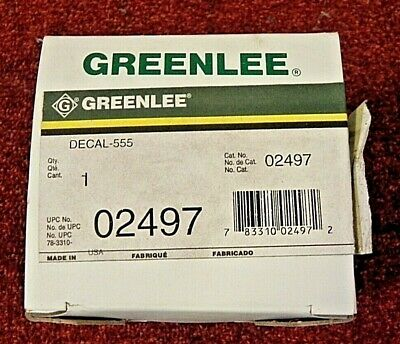 Greenlee 02497 Decal For 555 Conduit Bender