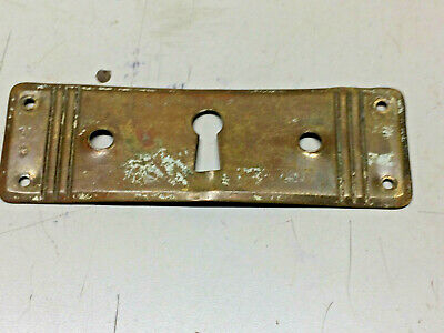 Vintage Old Architectural Salvage Solid Brass Escutcheon Keyhole Key Hole Cover
