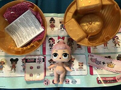 New Opened LOL Surprise Doll CRYSTAL QUEEN BABY  Big SIS Sister Dolls Series 1
