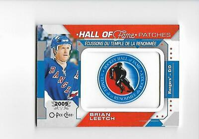 2019-20 O-Pee-Chee Brian Leetch Hall Of Fame Patch # HOF-4 (19-20) OPC