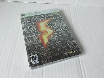Xbox 360 Resident Evil V 5 Steelbook Edition Collectors Brand New Sealed