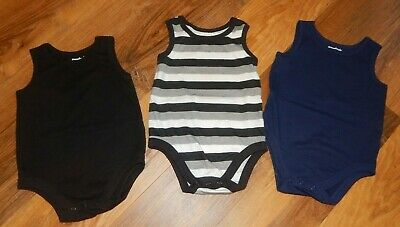 *Infant Size 18 Months Garanimals Brand Sleeveless Bodysuits--Lot Of 3-Excellent