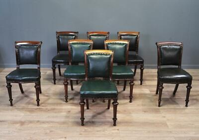 Set Of 8 Eight Antique Victorian Mahogany Dining Chairs, Stracathro Hospital