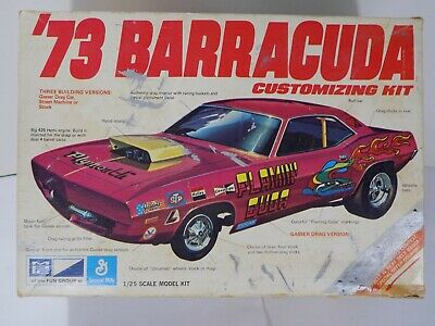 Vtg 1973 '73 BARRACUDA MPC Model Kit 1-7302-225 1/25 Built w/ Instructions & Box