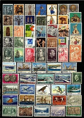 1069-INTERESTING LOT of USED STAMPS from GREECE. LOTE de Sellos USADOS de GRECIA