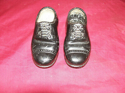 Old Tiny Metal Shoes Salesman's Sample ? Store Advertising Display Doll Vintage