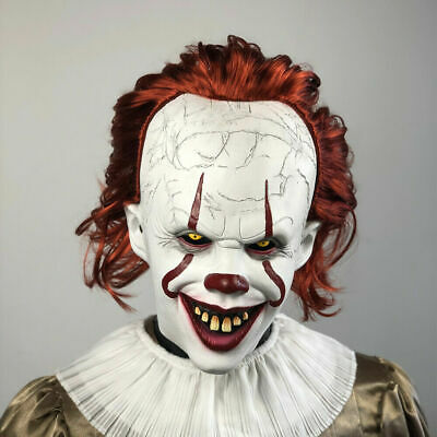 2019 Pennywise Joker Mask It Chapter Two 2 Horror Clown Halloween Scary Mask