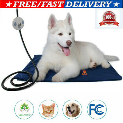 Waterproof Pet Heating Pad Cat Dog Heated Bed Mat Electric Chew Resistant Cord