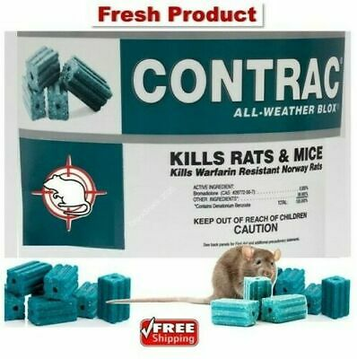 Bell Contrac Blox Rat Mouse Mice Rodent Killer Bait 1 - 50 Blocks FREE SHIPPING!