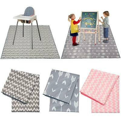 No Mess Floor Mat Baby High Chair Feeding Cover Splash Messy Play Painting
