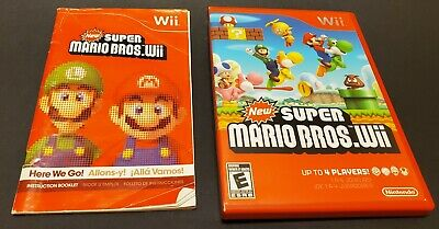 Super Mario Bros Wii Manual and Case only - No Game