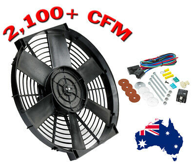 """16"""" Electric Thermo Fan (12V) & Mounting Kit (2,100+ CFM) Push & Puller"""