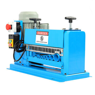 220V 370W Powered Electric Wire Stripping Machine 10 Blades Metal Cable Scrapper