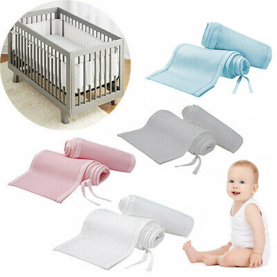Purflo Breathable Soft Mesh Adjustable for Cot Cot Bed Wrap Around Bumper GREY