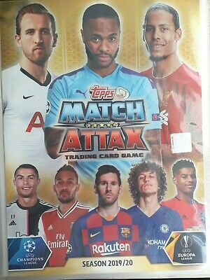 Match Attax 2019/20 full set of all 331 cards in binder + LE1G + 15 Super Squad