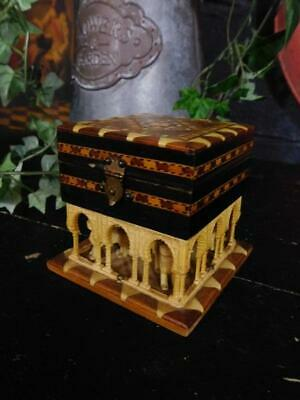 Vintage Tunbridge Ware Effect Grand Tour Style Trinket Jewellery Box