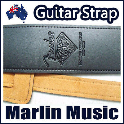 Adjustable Leather Guitar Strap - Fender 60th Anniversary Edition