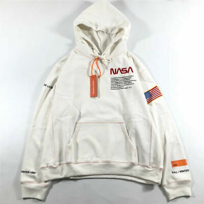 Mens WoMens Hoodie Hooded Hip hop Heron Preston NASA Pullover Sweatshirts Coat**