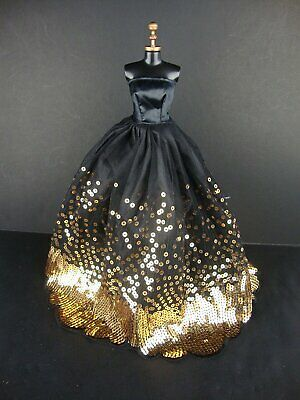 Sequins Gown Dress For-Barbie Doll Party Dress Outfit Clothes Gift